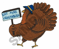 EAT MORE VEGETABLES! TURKEY embroidery design