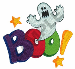BOO! GHOST embroidery design