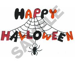 HAPPY HALLOWEEN SPIDER embroidery design