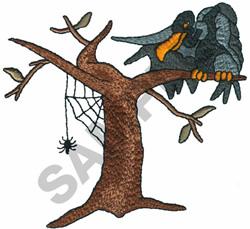 BUZZARD IN A TREE embroidery design