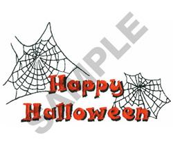 HAPPY HALLOWEEN WEB embroidery design