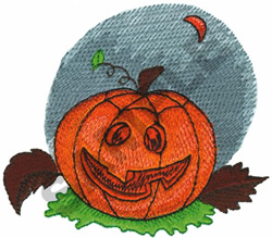JACK-O-LANTERN AT NIGHT embroidery design
