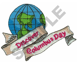DISCOVER COLUMBUS DAY embroidery design