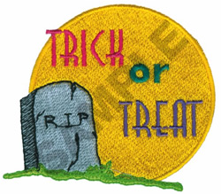 TRICK OR TREAT R.I.P. embroidery design