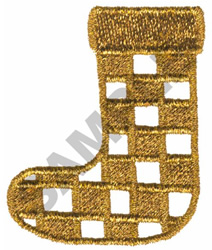 METALLIC STOCKING embroidery design