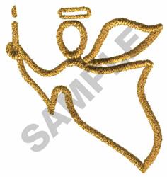 METALLIC ANGEL embroidery design