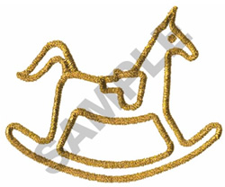 METALLIC ROCKING HORSE embroidery design