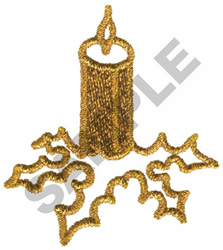 METALLIC CANDLE embroidery design