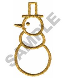 METALLIC SNOWMAN embroidery design