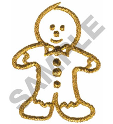 METALLIC GINGERBREAD BOY embroidery design