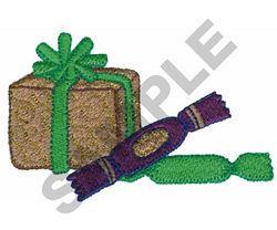 PRESENT AND CANDY embroidery design