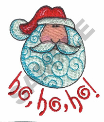 HO-HO-HO-SANTA embroidery design