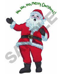 HO, HO, HO MERRY CHRISTMAS embroidery design