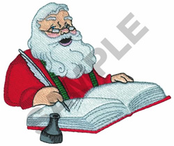 SANTA CHECKING LIST embroidery design