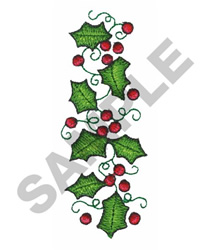 HOLLY And  BERRIES embroidery design