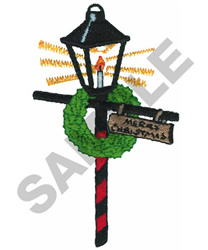 LAMP POST embroidery design