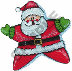 Star Santa embroidery design