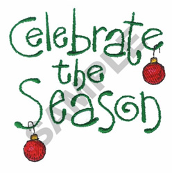 CELEBRATE THE SEASON embroidery design