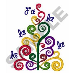 Fa La La Tree embroidery design