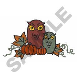 Autumn Owls embroidery design