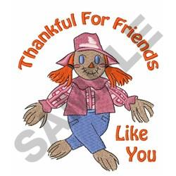 Thankful For Friends embroidery design