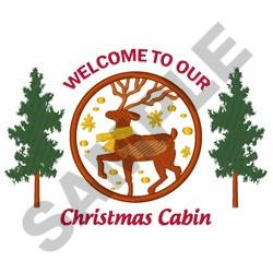 Christmas Cabin embroidery design