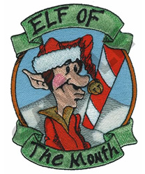 ELF OF THE MONTH embroidery design