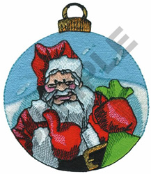 SANTA CHRISTMAS BALL embroidery design