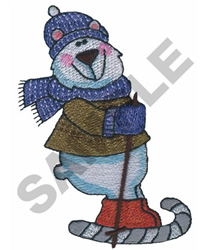 POLAR BEAR SKING embroidery design