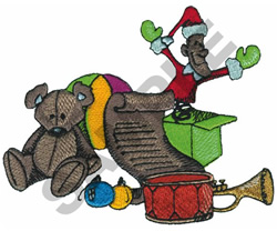 CHRISTMAS TOYS embroidery design