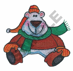POLAR BEAR SITTING embroidery design