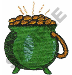 POT OF GOLD embroidery design