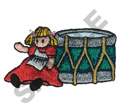 DOLL WITH DRUM embroidery design