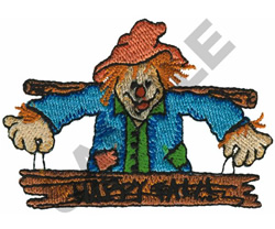 HAPPY FALL SCARECROW embroidery design