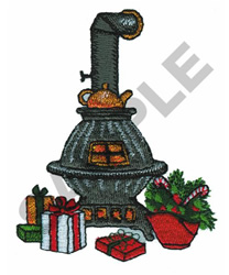 OLD FASHIONED STOVE embroidery design