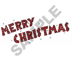 MERRY CHRISTMAS BORDER embroidery design