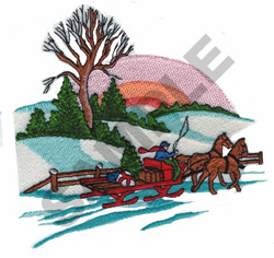 SLEIGH RIDE embroidery design