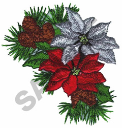 POINSETTIAS embroidery design
