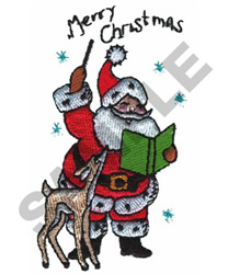 SANTA AND REINDEER embroidery design