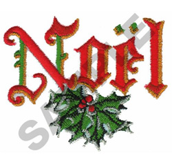 NOEL embroidery design