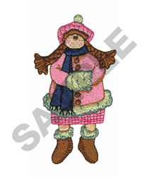 WINTER DOLL embroidery design