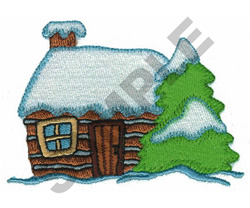 HOLIDAY CABIN embroidery design