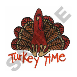 TURKEY TIME embroidery design