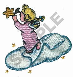 ANGEL HANGING STAR embroidery design