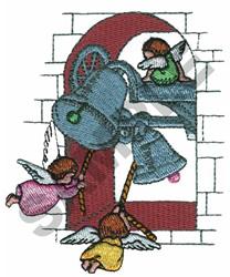 ANGELS RINGING BELLS embroidery design