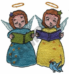 ANGELS CAROLING embroidery design