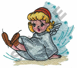 ANGEL FALLING DOWN embroidery design