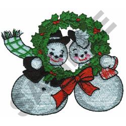 MR. & MRS. SNOWMAN embroidery design