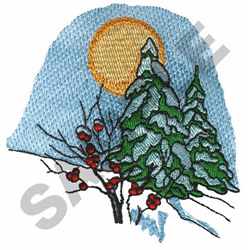 WINTER SCENE embroidery design