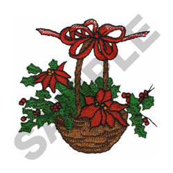 CHRISTMAS BASKET embroidery design